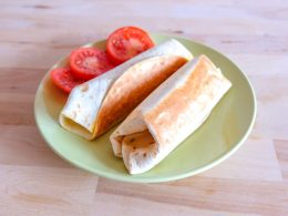 grilled wraps with tomato on green plate grilled tomato mozzarella wraps