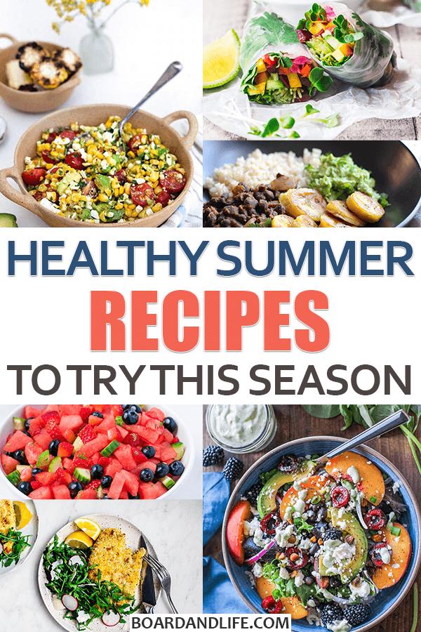 Healthy Summer Meal Ideas