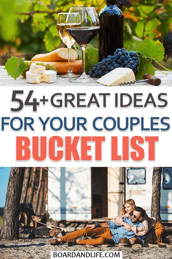 Couples Bucket List Ideas