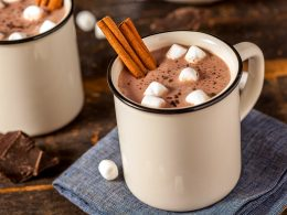 mug of hot chocolate with marshmallows and cinnamon best recipes