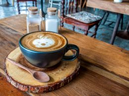 coffee mug on wooden table in cafe coffee brewing methods