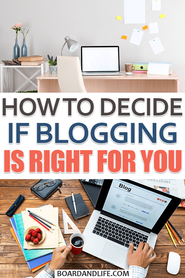 Determine if blogging is right for you