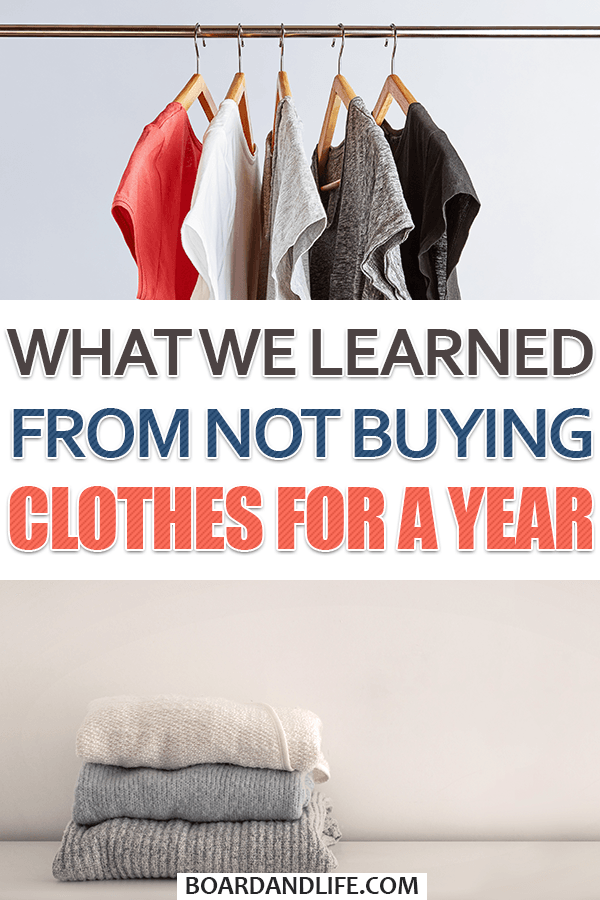What we learned from not buying clothes for a year