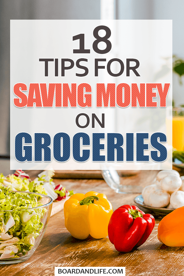 Tips for saving money on groceries Pin