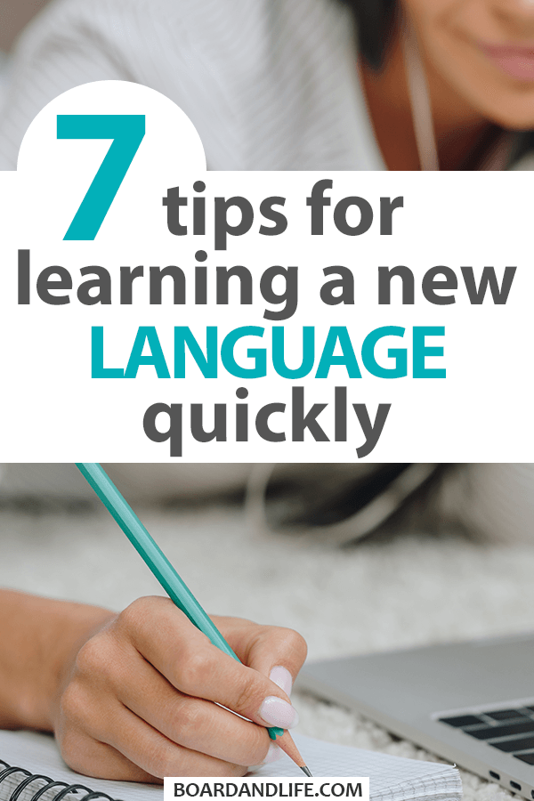 Tips for learning an new language quickly