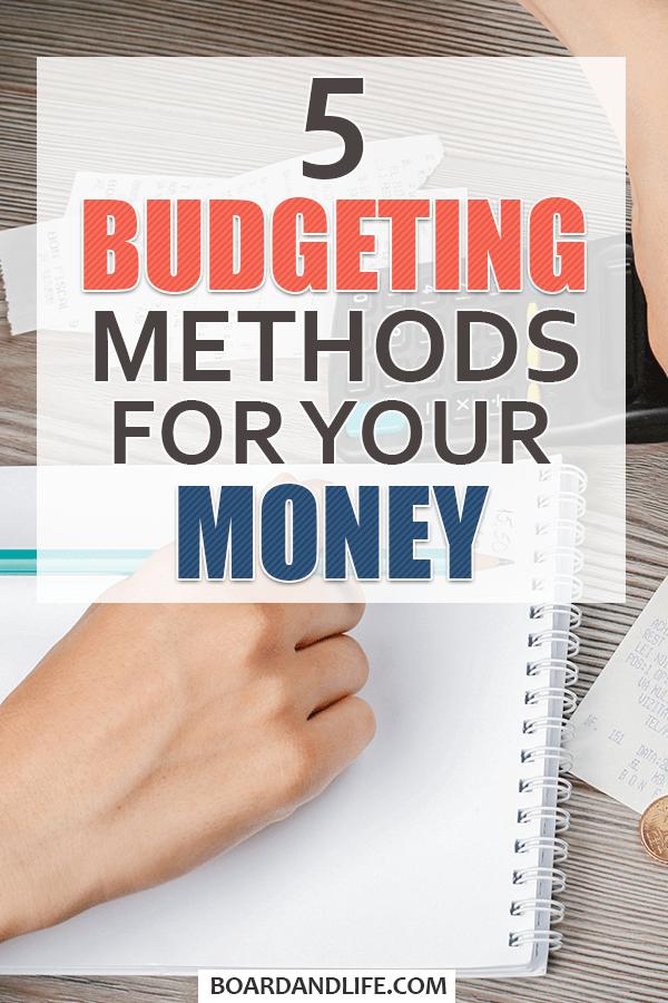 Five budgeting methods pin