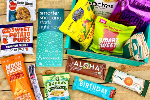 SnackSack Monthly Healthy Snacks Subscription Box