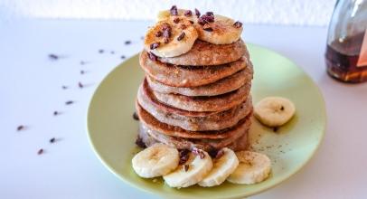 Simple Vegan Buckwheat Banana Pancakes